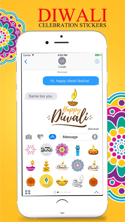 Diwali Stickers Pack For iMessage screenshot-4