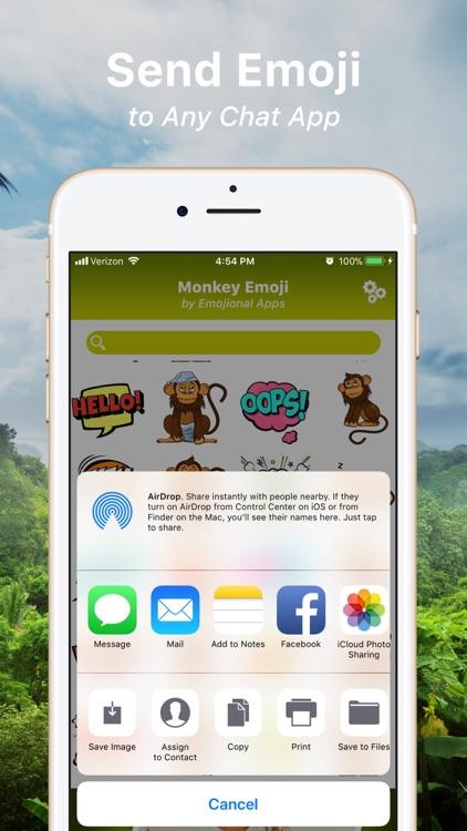 Monkey Emoji Texting Stickers