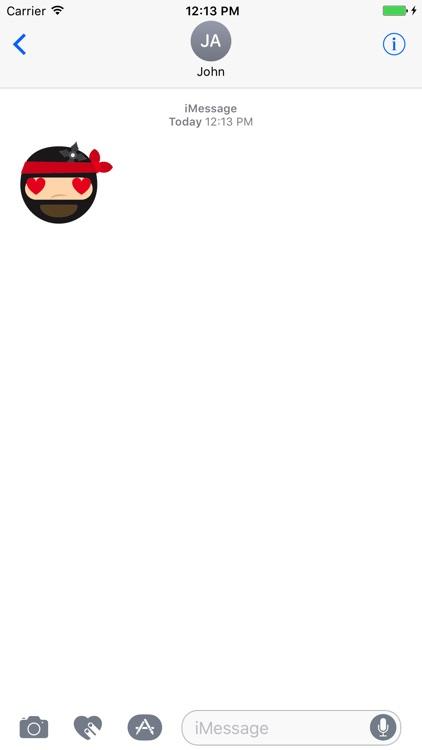 Ninja Emoji and Smiley Sticker pack screenshot-4