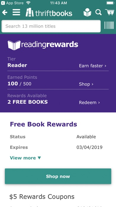 Screenshot for ThriftBooks: New & Used Books in United States App Store
