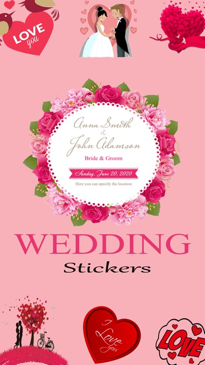 Wedding Love Stickers!