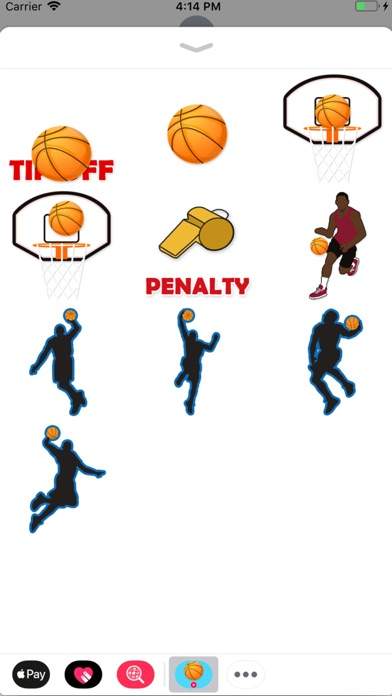 Animated Basketball Stickers screenshot 1