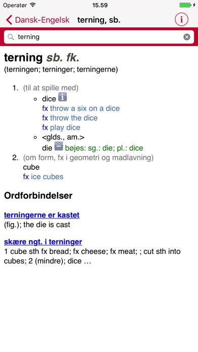 Gyldendal's English Danish Dictionary - Large Screenshot