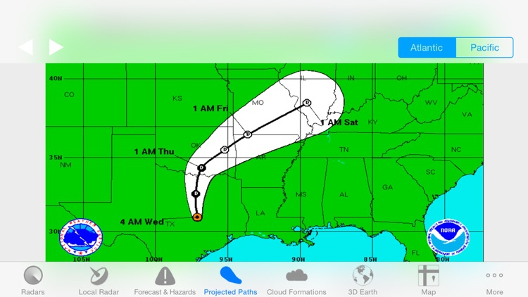 Hurricane Track - Radar and Tropical Storm Tracker screenshot-3