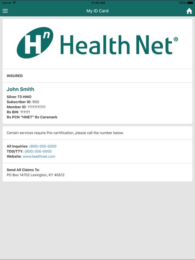 My Health Net Ca On The App Store