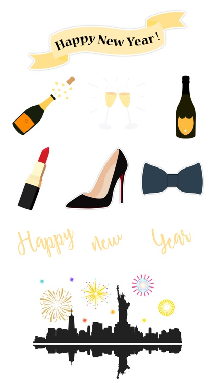 Enjoy New Year Stickers