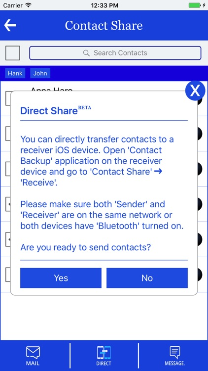 Contact Backup & Transfer screenshot-2