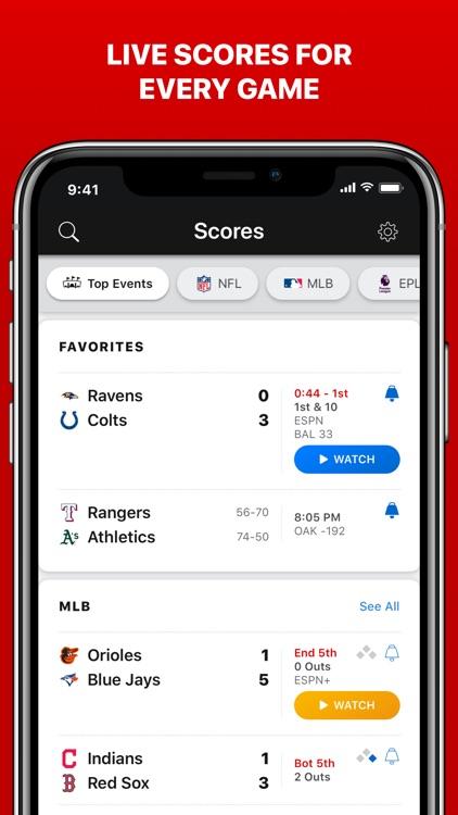 ESPN: Live Sports & Scores screenshot-6