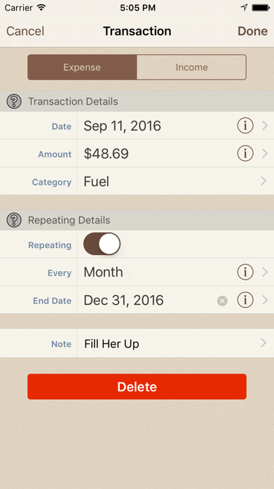 Spending Tracker Screenshot
