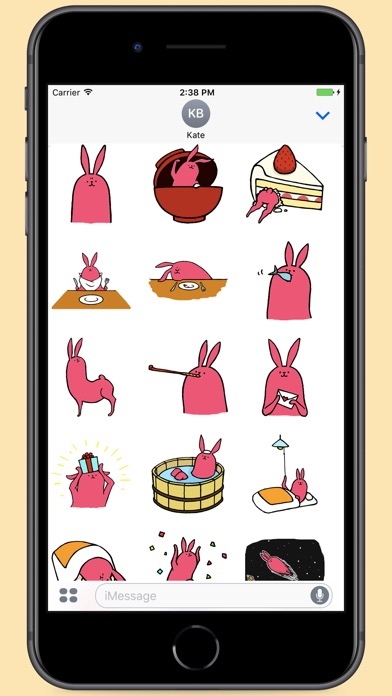 Screenshot for Crazy Pink Rabbit Stickers in Colombia App Store