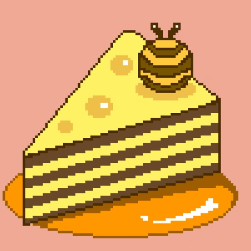 Pixel Cake Wonder Art Stickers