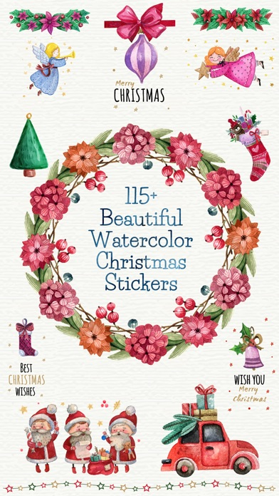 Beautiful Watercolor Christmas screenshot 1