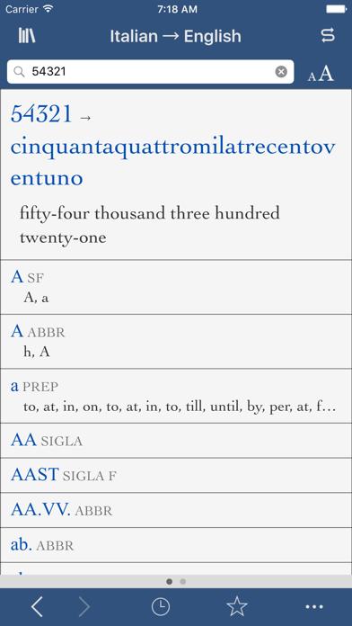 Collins Italian-English screenshot three