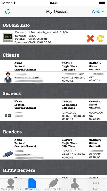 OSCam Viewer / iOS — AppAgg