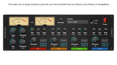 Multi-Tap Delay AUv3 Plugin screenshot 1
