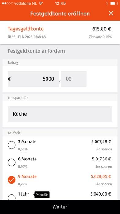 LeasePlan Bank SparenScreenshot von 5