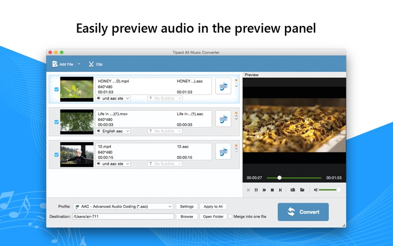 音频转化软件 Tipard All Music Converter for Mac