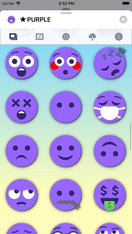 PURPLE Emoji • Stickers screenshot-7