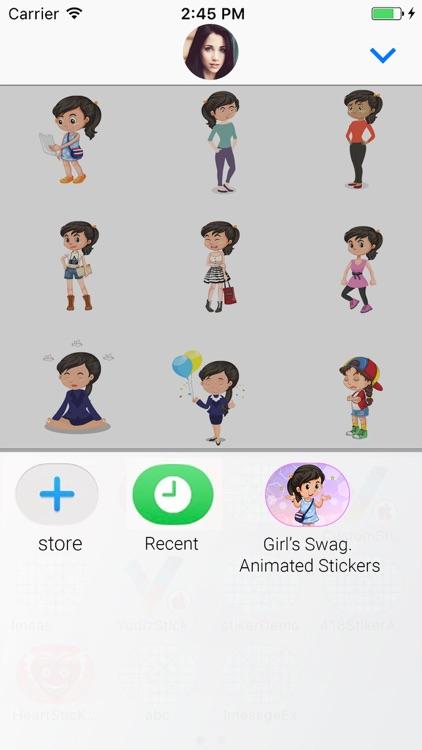 Girl Swag Animated Stickers screenshot-3