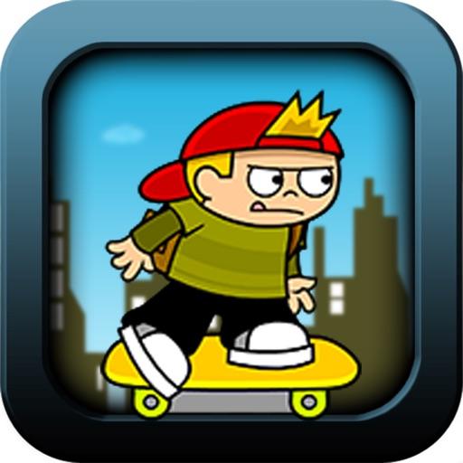Cartoon Skate-boarding City Kid Pro