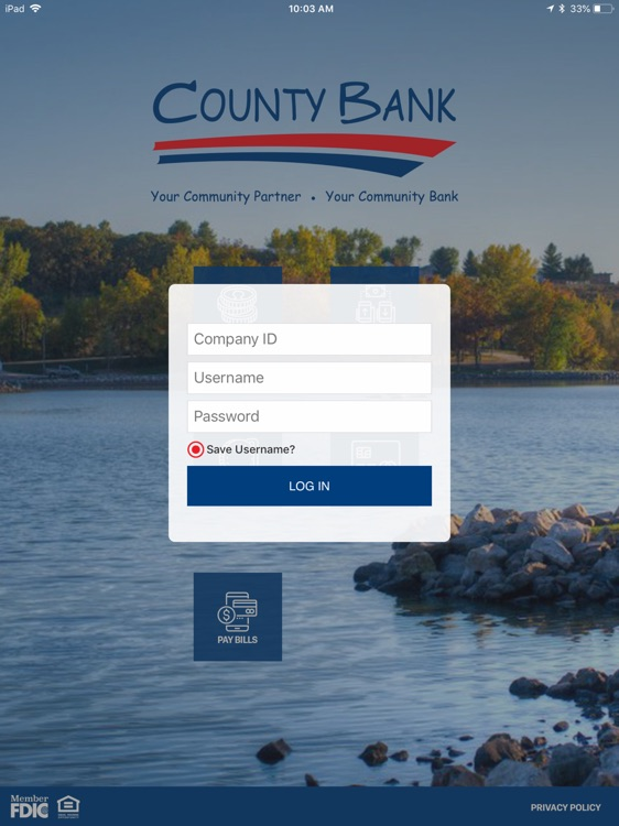County Bank BIZ for iPad