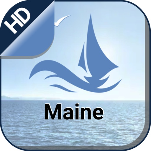 Maine boating gps nautical offline for sail charts