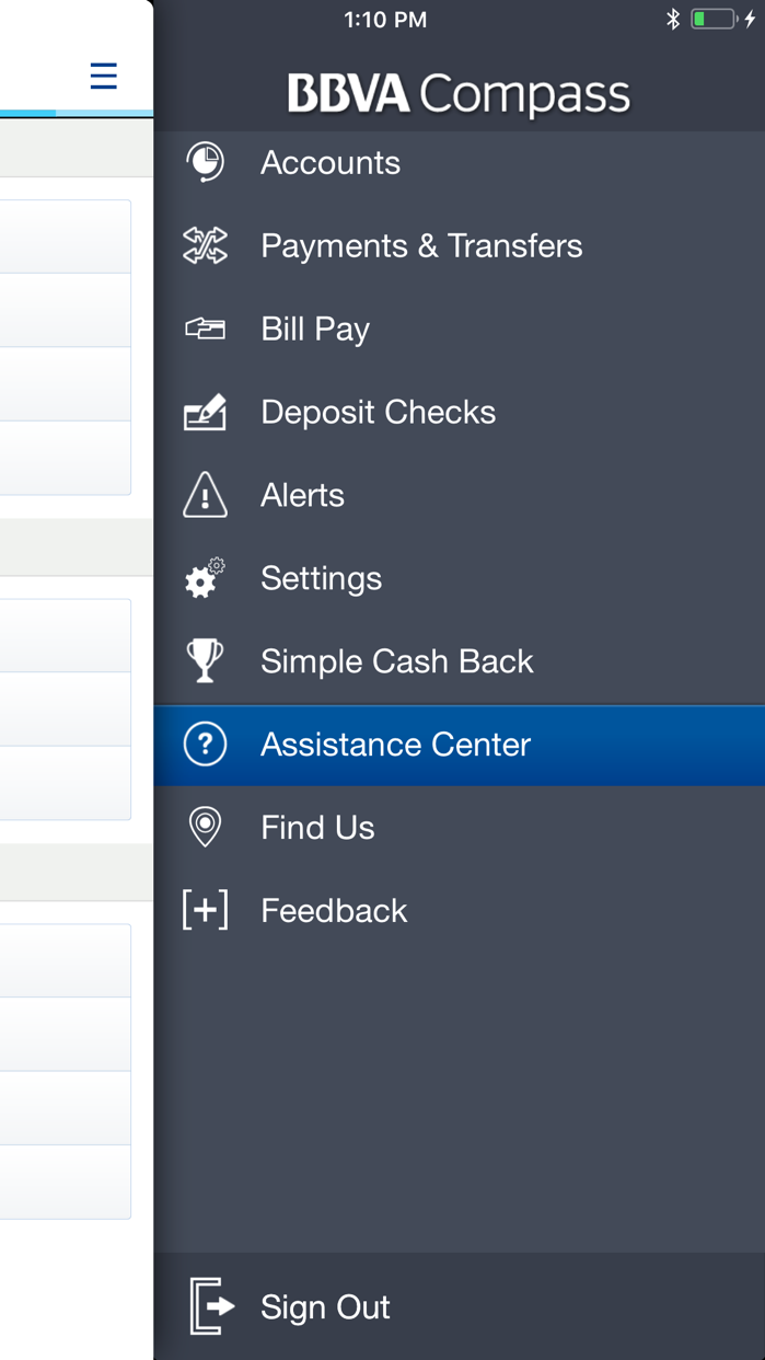 BBVA Compass Mobile Banking Screenshot