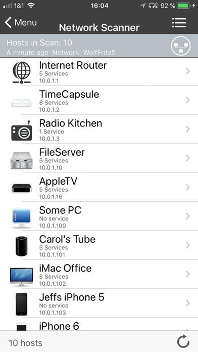 iNet Pro - Network Scanner Screenshots