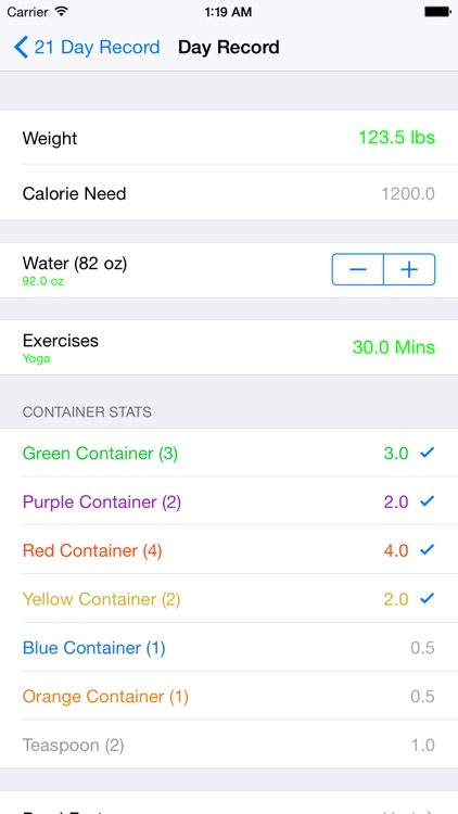 21 Day Fit Container Tracker