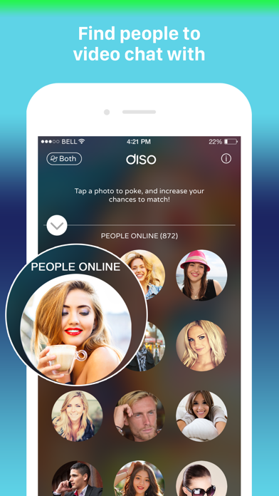 Diso - Random Live Video Chat Screenshot on iOS