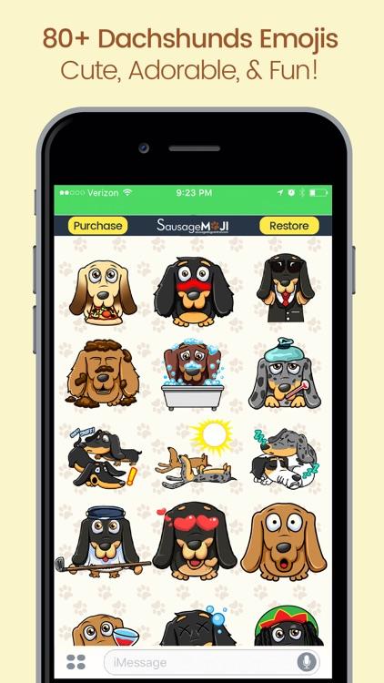SausageMoji - Dachshund Emojis screenshot-3