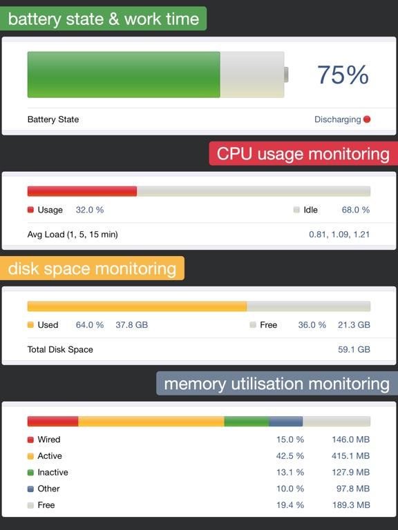 System Status Pro: hw monitor Screenshots