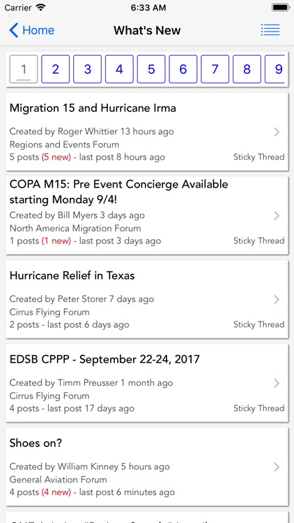 COPA Mobile Forum Reader