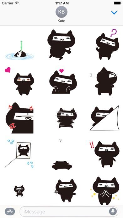 Animated Ninja Cat Sticker screenshot 1