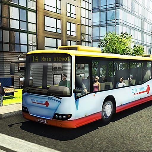 Город водитель автобуса Симуля