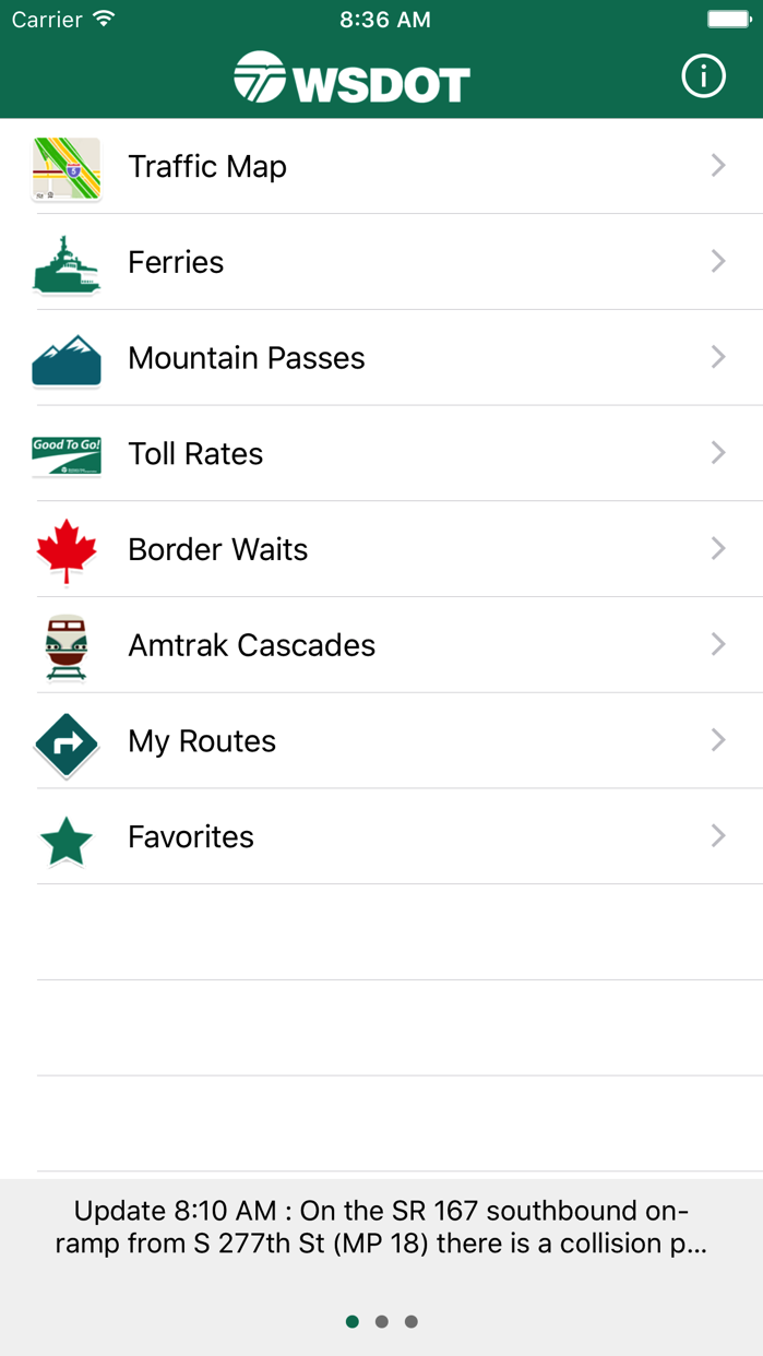 WSDOT Screenshot