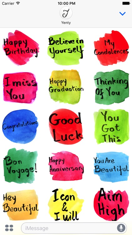 Watercolour Greeting Messages