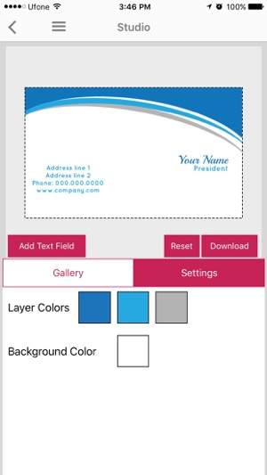 Easy business card maker on the app store fbccfo Image collections