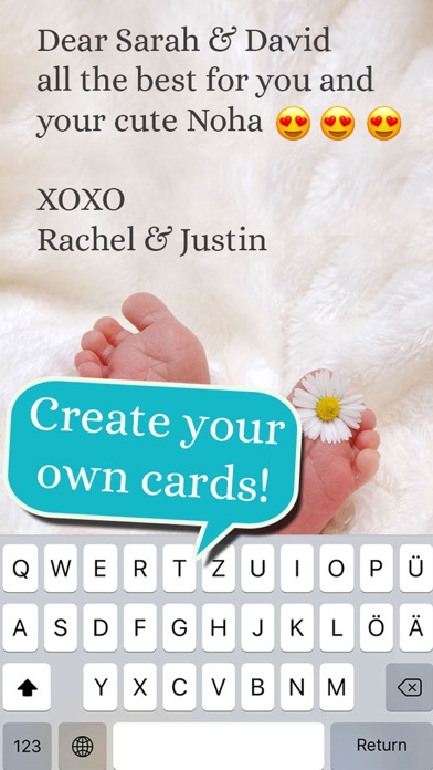 Baby - Birth Card Maker screenshot 4