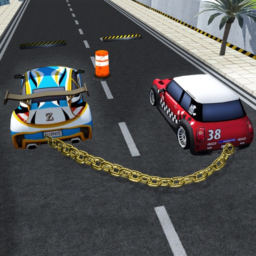 Chained Car Impossible Tracks
