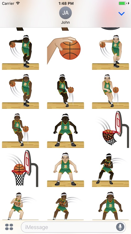 Basketball Emoji screenshot-3