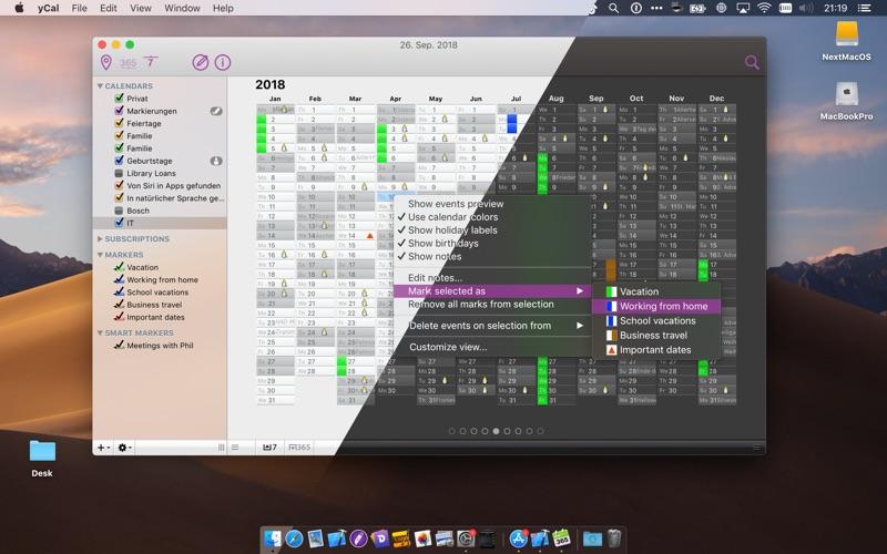 yCal Screenshots