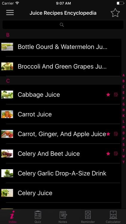 Juice Recipes Encyclopedia screenshot-5