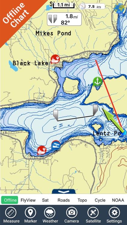 Flathead lake Montana charts HD GPS fishing maps