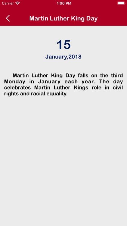 USA Calendar 2018 screenshot-4