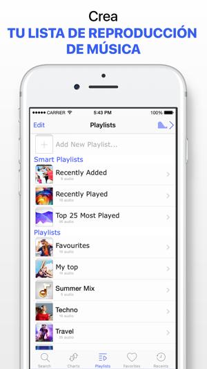 reproductor de musica para iphone 5s