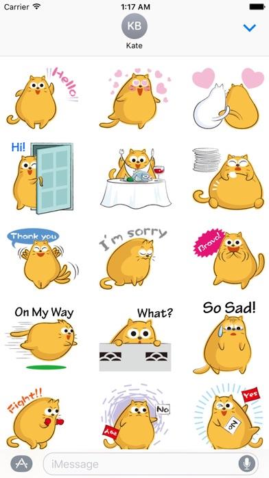 Funny Chubby Cat Sticker screenshot 1