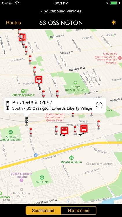 TTC Bus Map