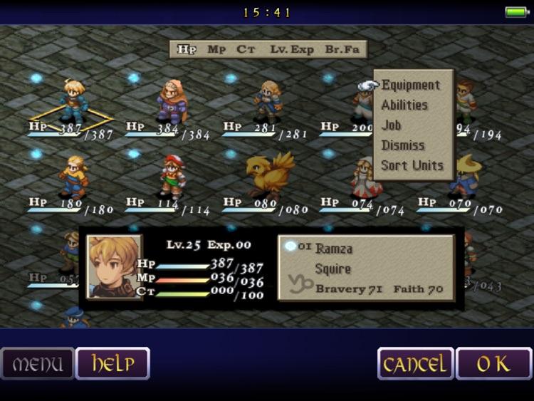 FINAL FANTASY TACTICS: THE WAR OF THE LIONS (iPad) screenshot-3