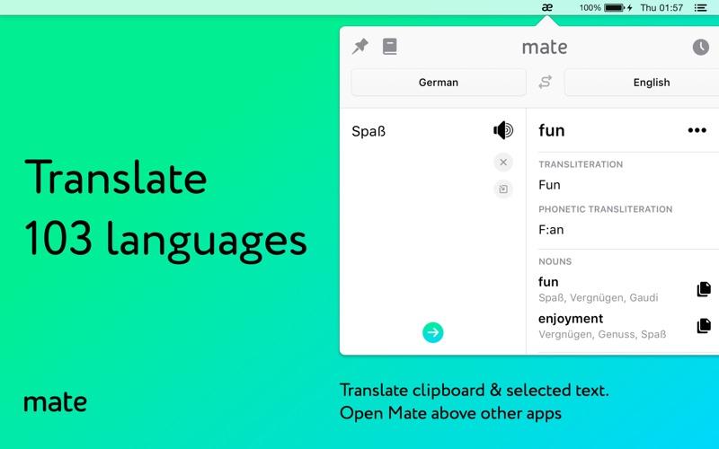 Mate – 번역가 및 사전 (103 개 언어) 앱스토어 스크린샷